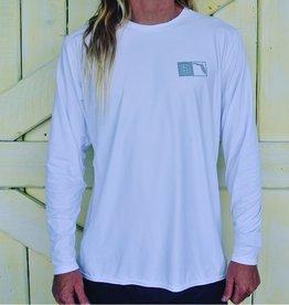 Blueline Surf + Paddle Co. Florida Box UV LS White\Gray