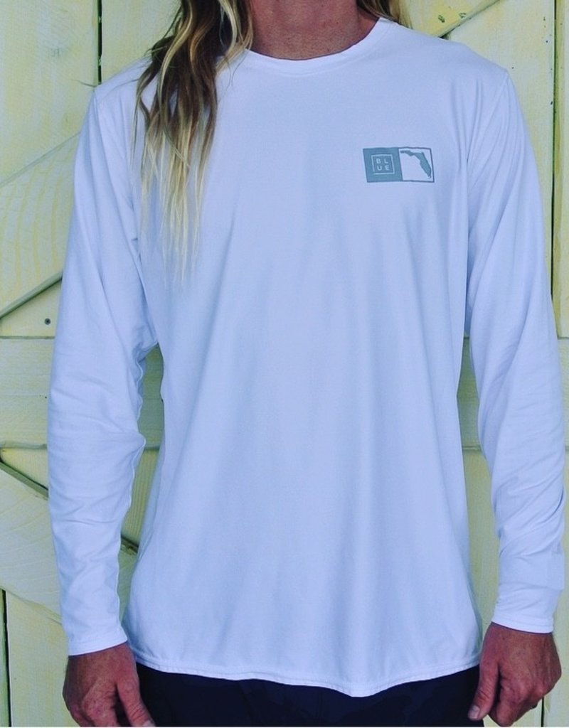 Blueline Surf + Paddle Co. Florida Box UV LS White\Gray