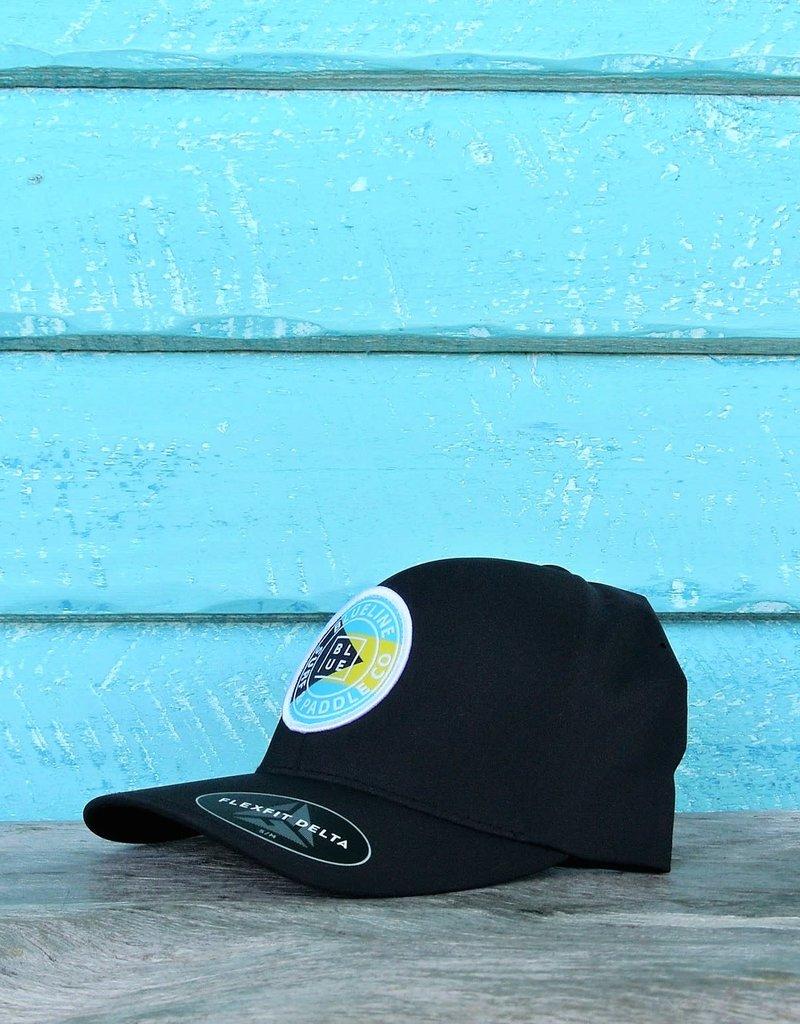 Blueline Surf + Paddle Co. Delta FlexFit Curved OG Bahamas Black
