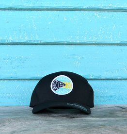 Blueline Surf + Paddle Co. Delta FlexFit Curved OG Bahamas Black