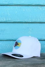 Blueline Surf + Paddle Co. Delta FlexFit Curved OG Bahamas White