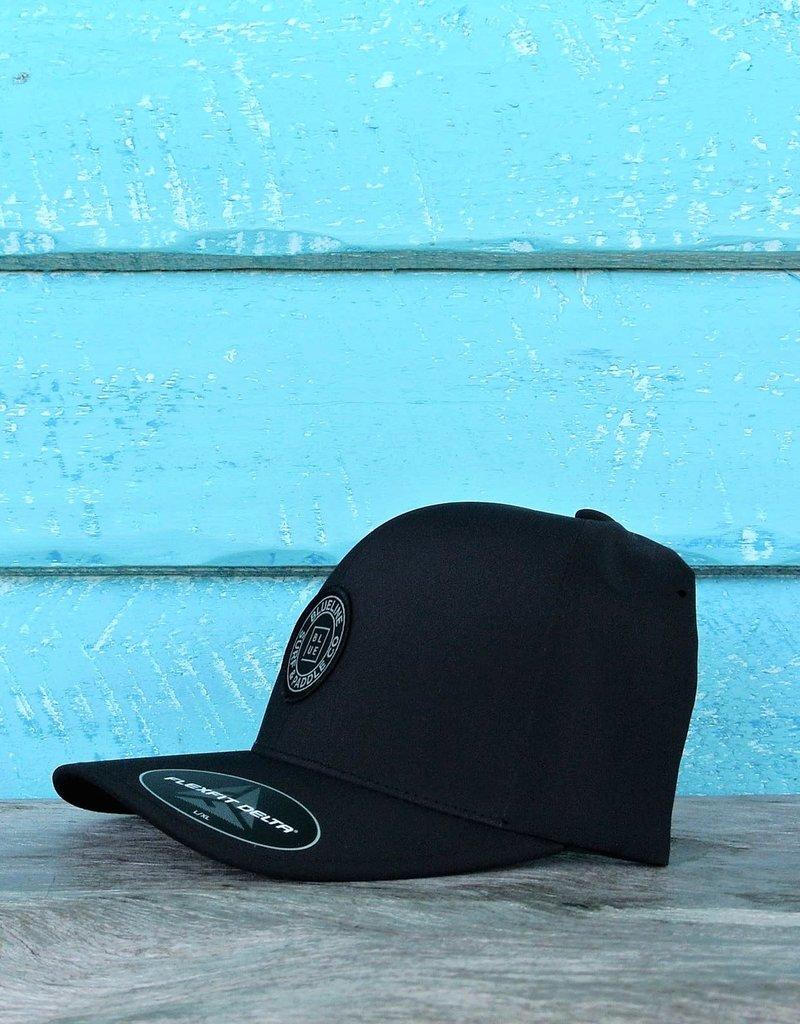 Blueline Surf + Paddle Co. Delta FlexFit Curved Original Black
