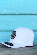 Blueline Surf + Paddle Co. Delta FlexFit Curved Original White