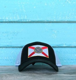 Blueline Surf + Paddle Co. Curved Florida Flag Black\Carolina Oxford\Scar.Roy.Yel