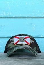 Blueline Surf + Paddle Co. Curved Florida Flag Camo\Black