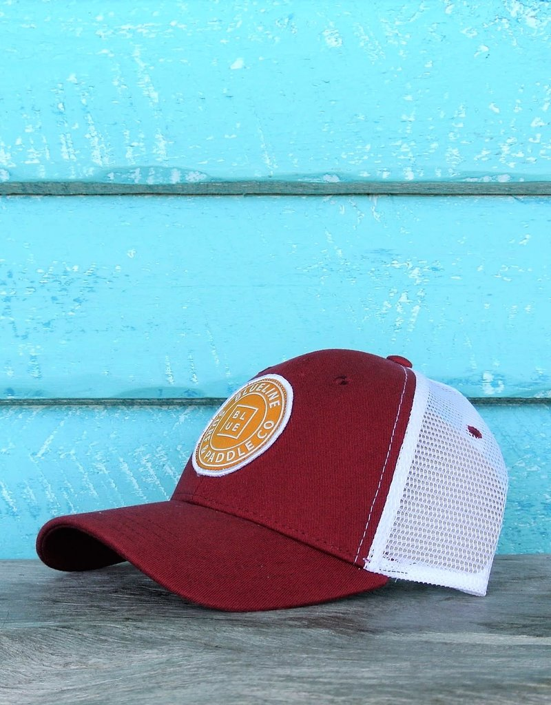 Blueline Surf + Paddle Co. Original Curved Crimson\White\Gold