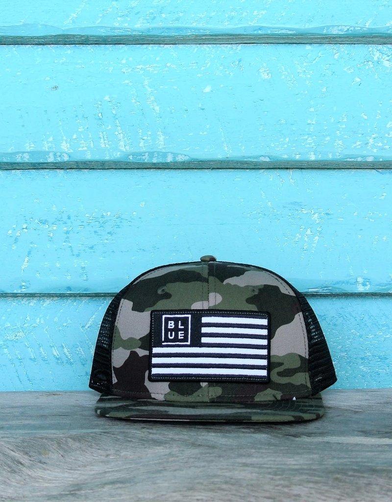 Blueline Surf + Paddle Co. USA Flag Flat Army Camo\Black
