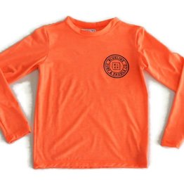 Blueline Surf + Paddle Co. youth original UV long sleeve coral
