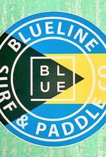 "Blueline Surf + Paddle Co. Bahamas Sticker Round 3"" Round"
