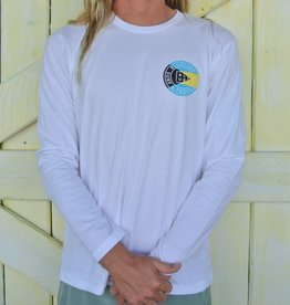 Blueline Surf + Paddle Co. Original Long Sleeve White\Bahamas