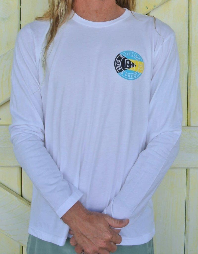 Blueline Surf + Paddle Co. Original Long Sleeve White\Bahamas
