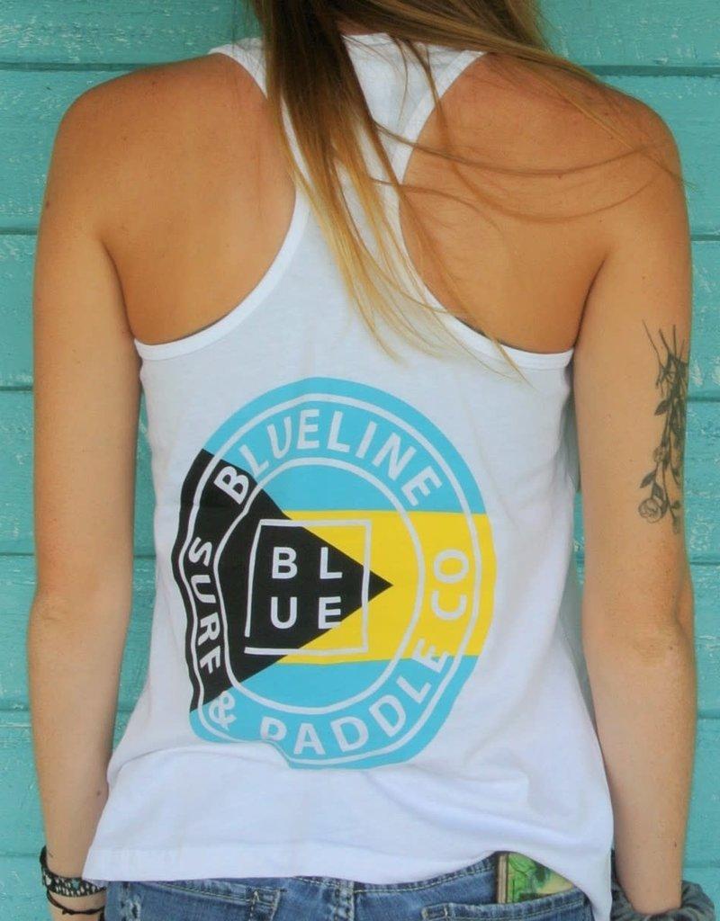 Blueline Surf + Paddle Co. Original Racerback White\Bahamas