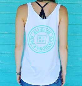 Blueline Surf + Paddle Co. Original Flowy Side Slit White\Jade