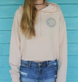 Blueline Surf + Paddle Co. Original Crop Hoodie Blush