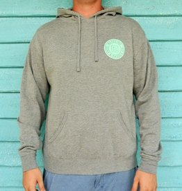 Blueline Surf + Paddle Co. Original Pullover Hoodie Gunmetal Gray\Jade