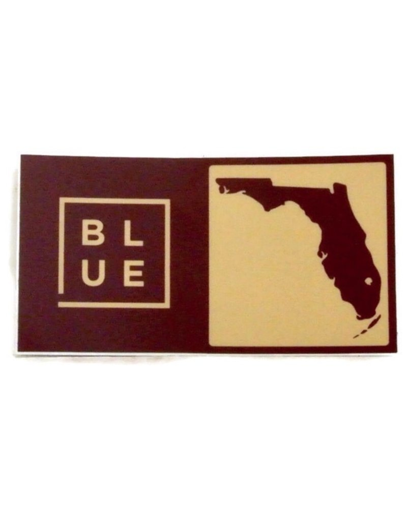 Blueline Surf + Paddle Co. Blueline Team Florida Box Sticker FSU Seminoles