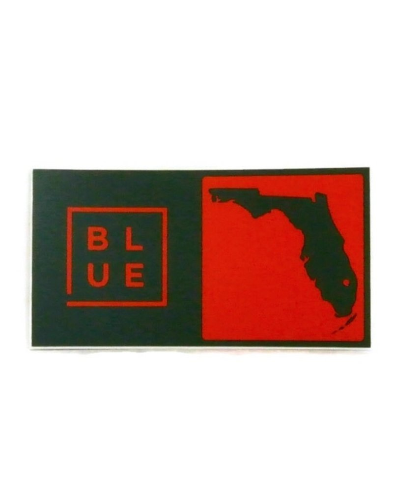 Blueline Surf + Paddle Co. Blueline Team Florida Box Sticker Miami Hurricanes