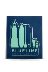 Blueline Surf + Paddle Co. Blueline Lifestyle Sticker 3 x 3.5