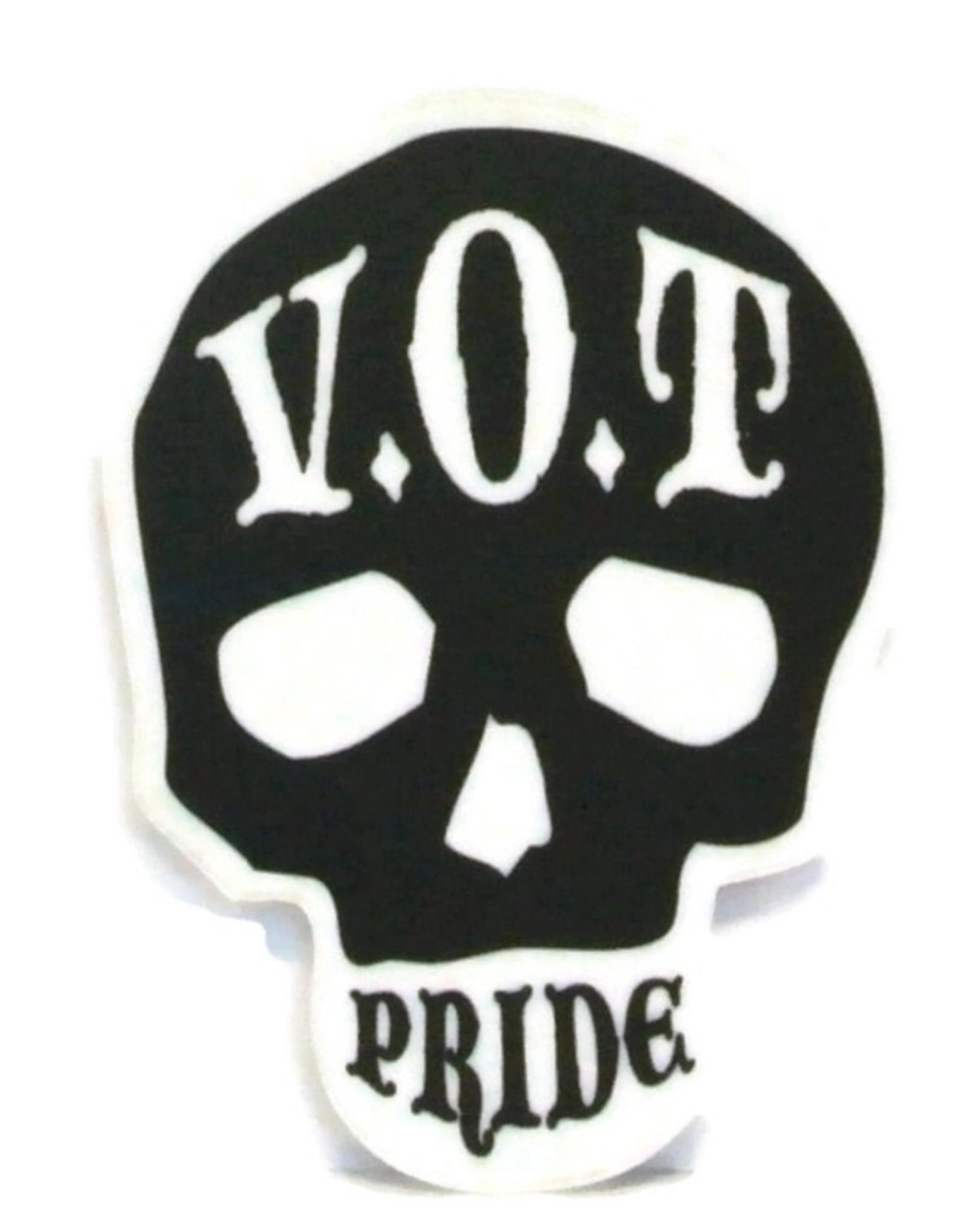 "V.O.T. PRIDE V.O.T Pride Sticker Black 2.5"" x 3.5"""