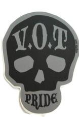"""V.O.T. PRIDE V.O.T Pride Sticker Gray 2.5"""" x 3.5"""""""