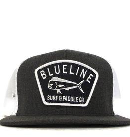 Blueline Surf + Paddle Co. Flat Mahi Badge Charcoal\White