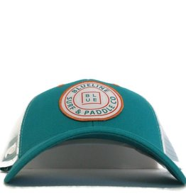 Blueline Surf + Paddle Co. Original Curved Teal\White
