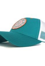 Blueline Surf + Paddle Co. Original Curved Teal\White