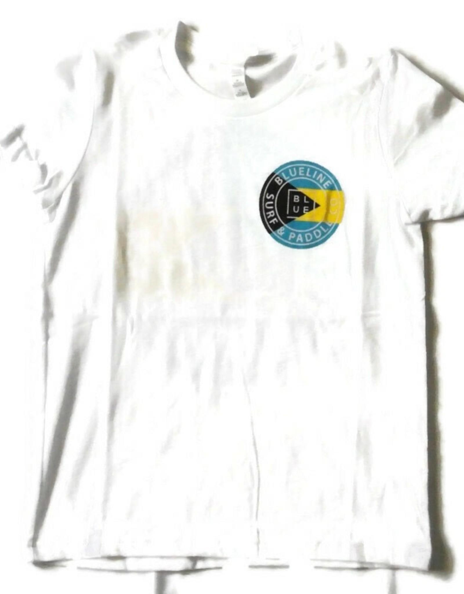 Blueline Surf + Paddle Co. youth original bahamas flag tee white