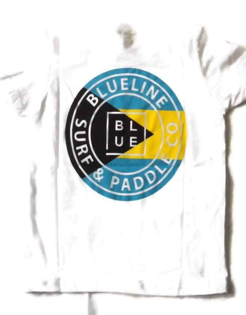 Blueline Surf + Paddle Co. youth original bahamas flag tee white