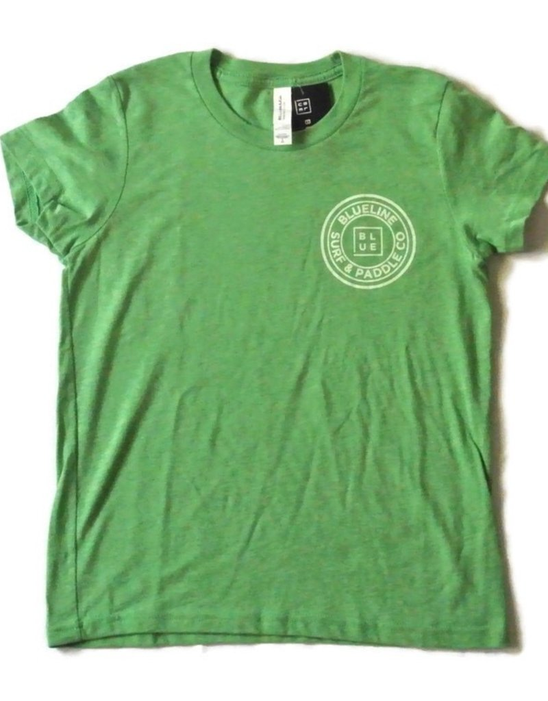 Blueline Surf + Paddle Co. The Original Youth Tee Green