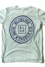 Blueline Surf + Paddle Co. youth original tee ice blue