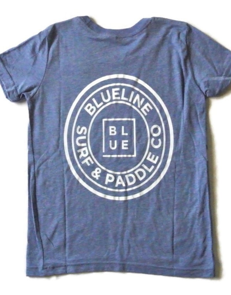 Blueline Surf + Paddle Co. youth original tee blue heather