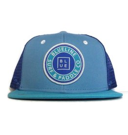 Blueline Surf + Paddle Co. youth original flat bill carolina\royal\aqua\white