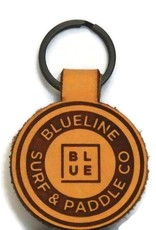 Blueline Surf + Paddle Co. Blueline Original Leather Keychain