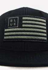 Blueline Surf + Paddle Co. USA Flag Flat Blacked Out
