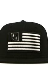Blueline Surf + Paddle Co. USA Flag Flat UV Lite Black\White