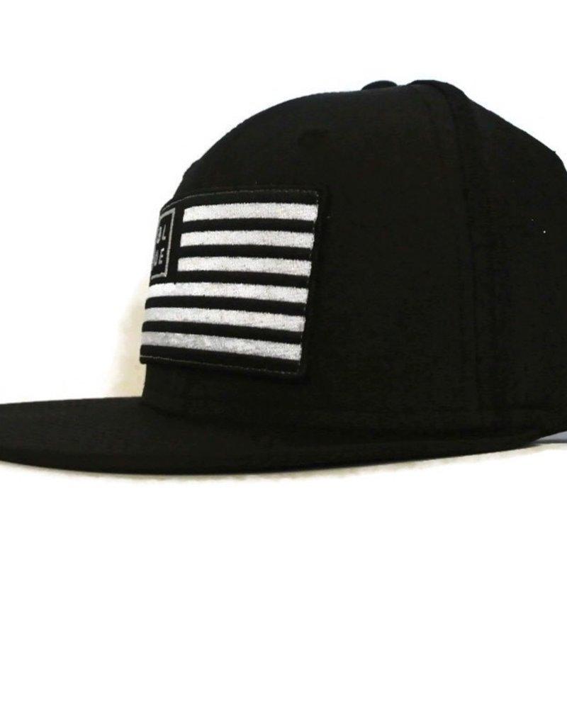 Blueline Surf + Paddle Co. USA Flag Flat UV LITE Hat Black\White