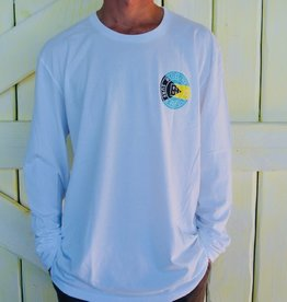 Blueline Surf + Paddle Co. Long Sleeve Original White\Bahamas