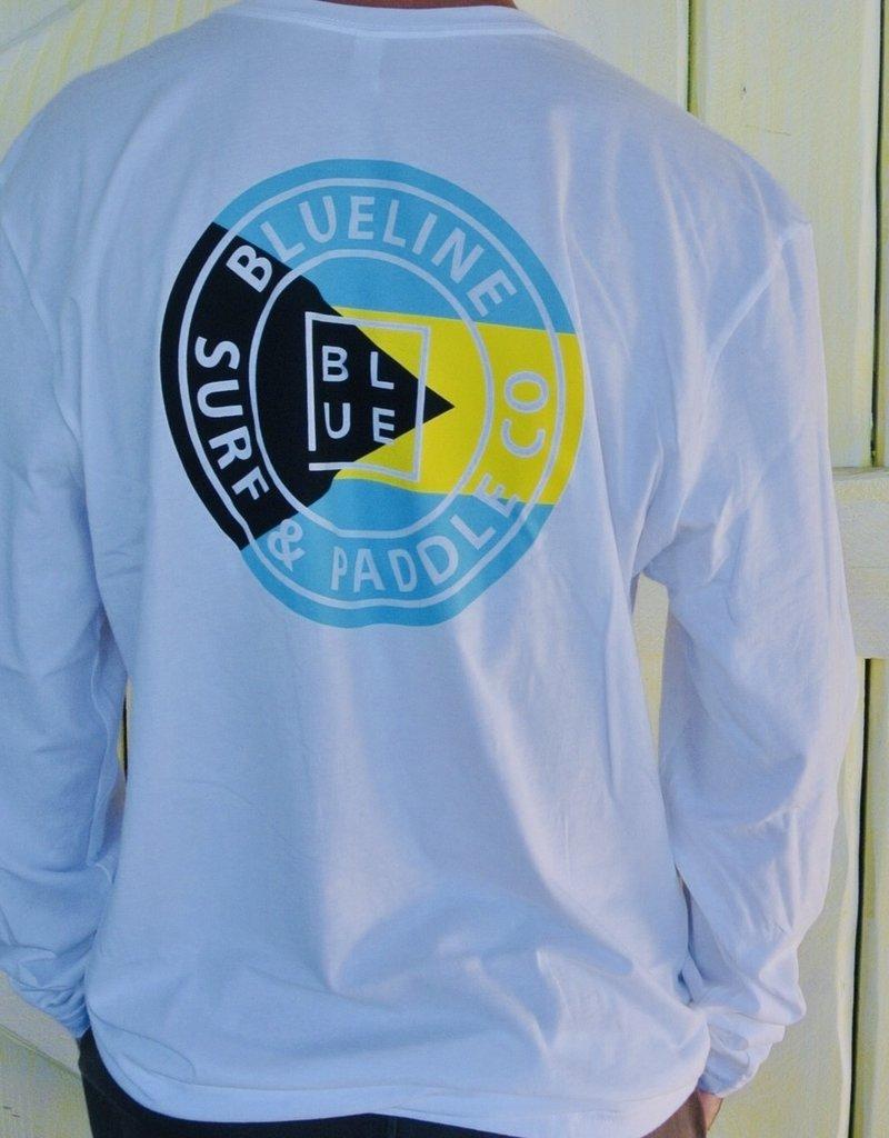 Blueline Surf + Paddle Co. Long Sleeve Original White\Bahamas