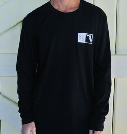 Blueline Surf + Paddle Co. Long Sleeve Florida Box Black\White