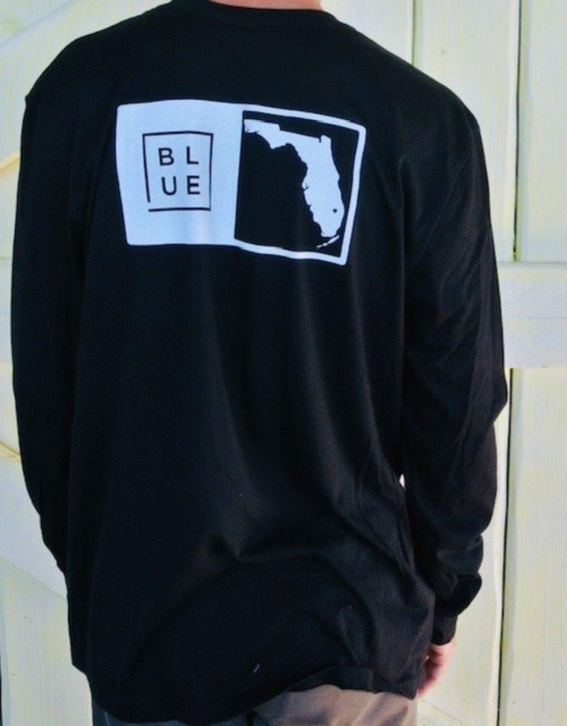 Blueline Surf + Paddle Co. Long Sleeve Florida Box Black