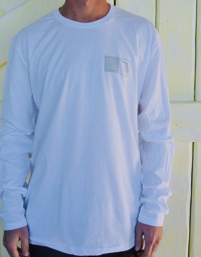 Blueline Surf + Paddle Co. Long Sleeve Florida Box White\Gray