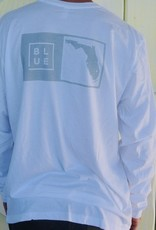 Blueline Surf + Paddle Co. Long Sleeve Florida Box White\Gray