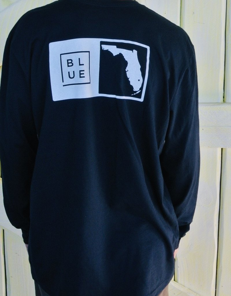 Blueline Surf + Paddle Co. Long Sleeve Florida Box Navy\White