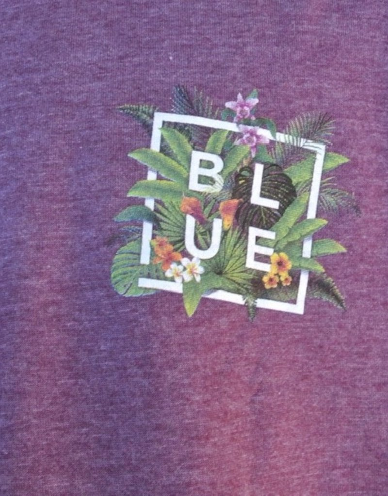 Blueline Surf + Paddle Co. Floral Box Eggplant Heather