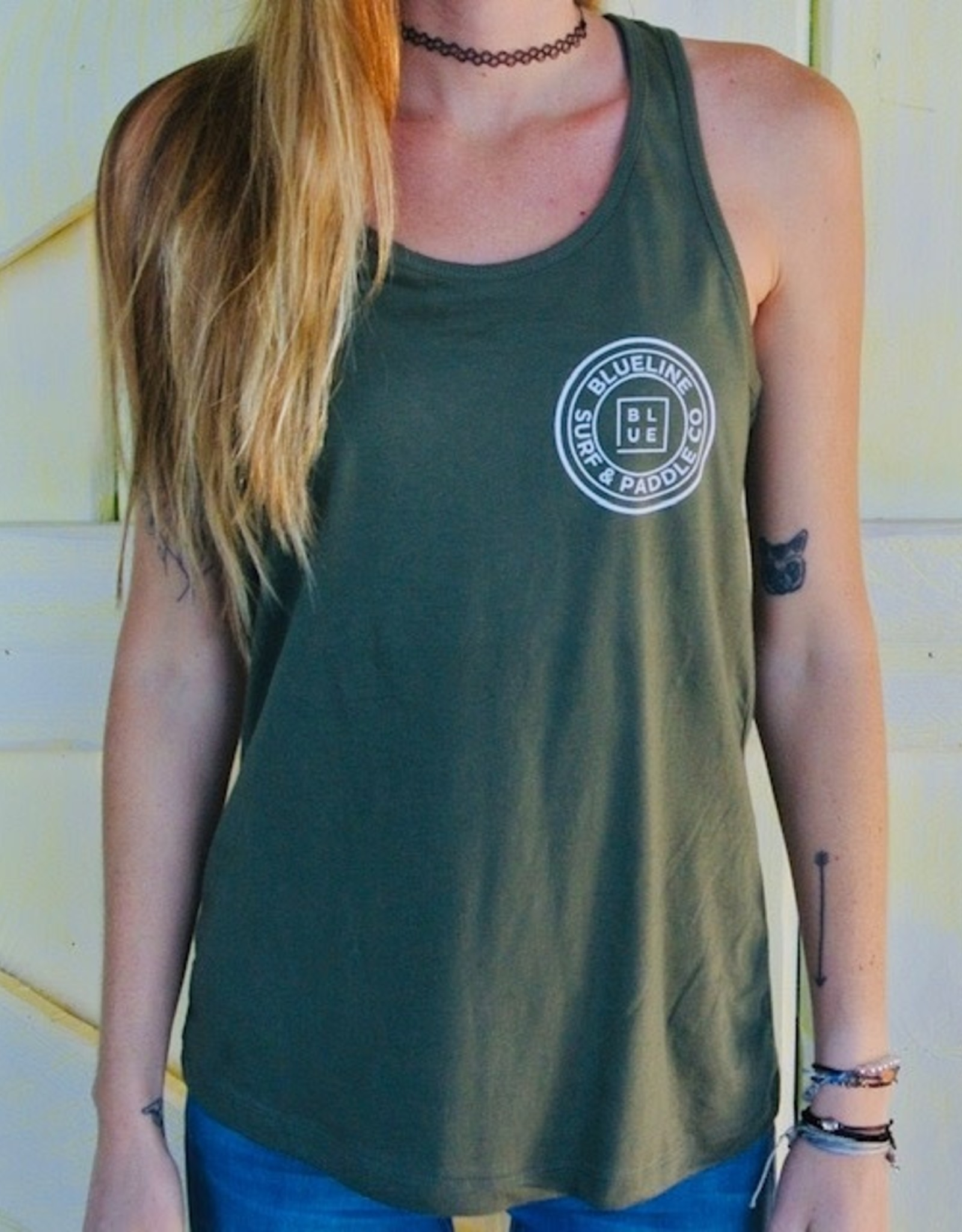 Blueline Surf + Paddle Co. Original Military Green\White