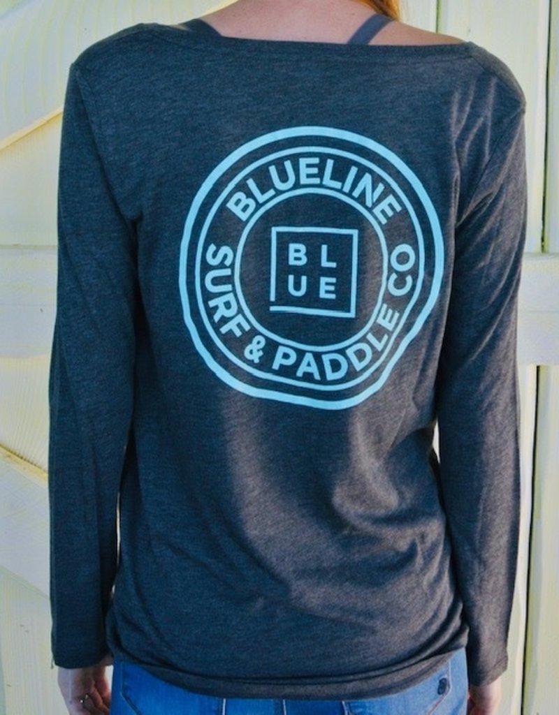 Blueline Surf + Paddle Co. Long Sleeve Original Dark Grey\Jade