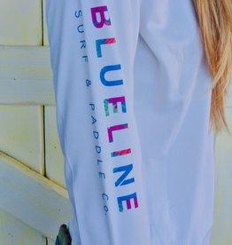 Blueline Surf + Paddle Co. W. Original UV LS White\Floral