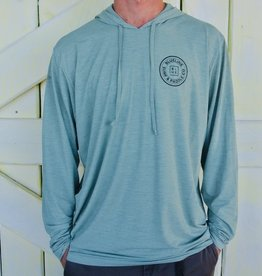Blueline Surf + Paddle Co. Original Low Pro Tech Hoodie Olive Heather