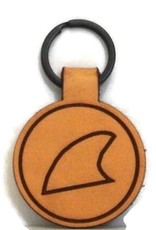 Blueline Leather Keychain FIN